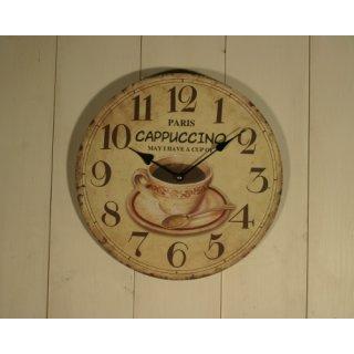 """Uhr """"Capuccino in Paris"""""""